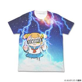 ポプテピピック サンダーポプ子フルグラフィックTシャツ