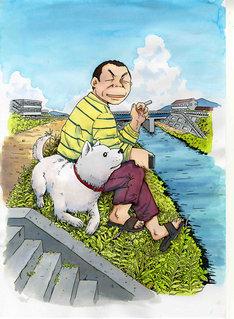村上たかし「星守る犬」イメージイラスト。