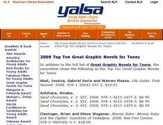 トップ10などの結果はヤングアダルト図書館サービス協会(yalsa)の公式サイトで見ることができる。