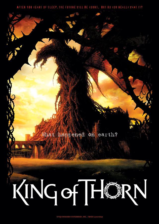 「いばらの王 -King of Thorn-」の海外用キービジュアル。(c)YUJIIWAHARA・ENTERBRAIN,INC. / IBARA committee