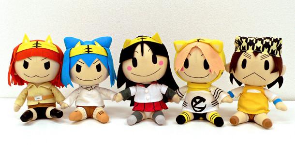 左よりアムゥ・ルゥ、ベンガ・ルゥ、美虎ちゃん、虎々ちゃん、虎奈。