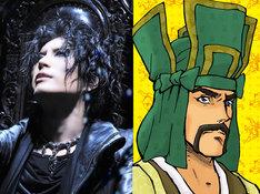GACKT(左)と、GACKTが演じる上杉謙信(右)。(c)2010 大羽快・メディアファクトリー/殿と製作委員会
