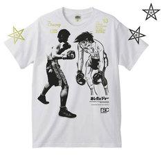 「『あしたのジョー』×長谷川穂積」Tシャツ。※画像はデザイン段階のため仕様・色など実際の商品とは異なる場合があります。(C)高森朝雄・ちばてつや/講談社(C)rsc (C)真正ボクシングジム