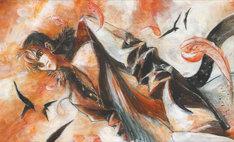 加倉井ミサイル作画による「彷徨の雲 北斗の拳 ジュウザ外伝」カット。
