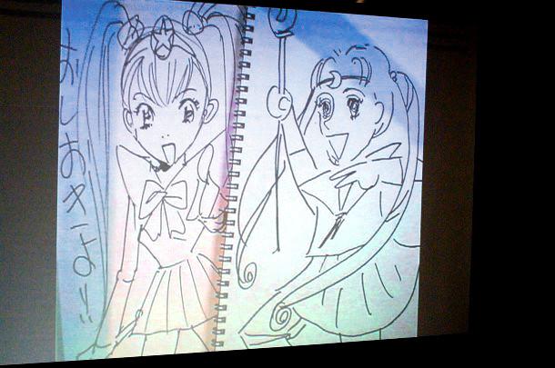 お題「セーラームーン」。左が浦沢画、右が西原画。