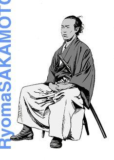 江口寿史の描いた坂本龍馬。