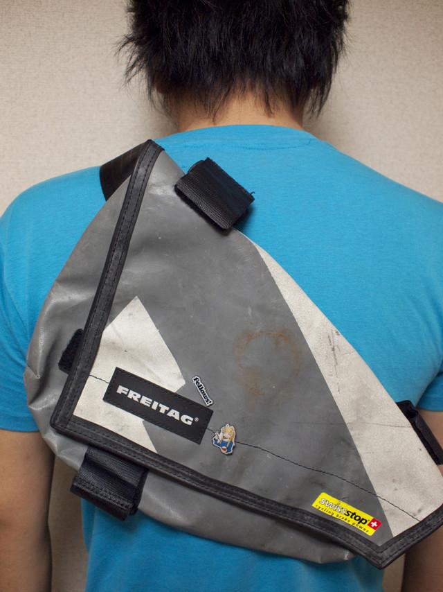 バッグにつけるとこんな感じ。