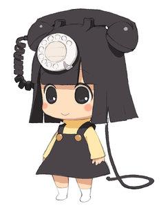 「でんわのクロちゃん」主役のクロちゃんビジュアル。