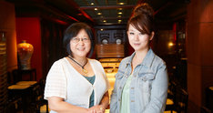 ツーショット写真。左が高橋留美子、右が東村アキコだ。