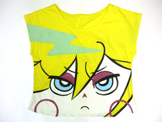 コラボTシャツ「パンティ」モデルのフロントデザイン。(C)2010 GAINAX/GEEKS (C)Joe International. All Rights Reserved.