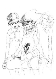 松本大洋による新連載「Sunny」予告カット。(C)松本大洋/小学館