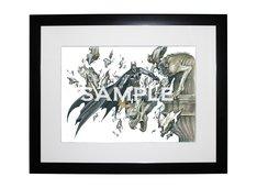 桂正和サイン入り「バットマン」複製原画、価格は4万7250円。