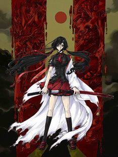 「BLOOD-C」キービジュアル。(C)2011 Production I.G, CLAMP/Project BLOOD-C TV