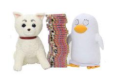 「超BIGぬいぐるみ」定春(左)とエリザベス(右)。少年ジャンプ約25冊分の高さだ。※画像は製作途中のもの (C)空知英秋/集英社・テレビ東京・電通・サンライズ・アニプレックス