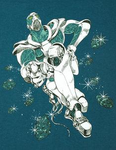 「HIEROPHANT GREEN」Dark Turquoise。エメラルド・スプラッシュ!! (C)Hirohiko Araki & LUCKY LAND COMMUNICATIONS / SHUEISHA