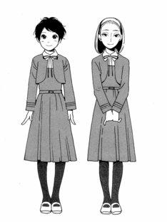 志村貴子「淡島百景」第1話扉ページ。
