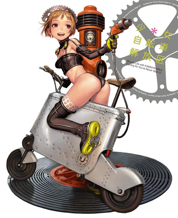 「少女自転車解放区」カバー。(C)RANGE MURATA / WANIMAGAZINE 2011