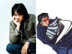 江口洋介(左)と彼が演じる斎藤一(右)のカット。(C)和月伸宏/集英社