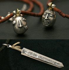 「ベヘリットシルバーペンダント」(覇王、蝕)と「ドラゴン殺し シルバーペンダント」。