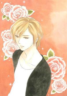 鈴木有布子の新連載「反面王子」カット。