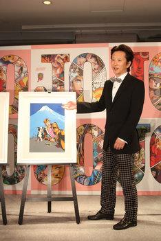 東京展キービジュアルについての思いを語る荒木飛呂彦。