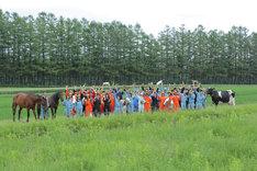 CMが撮影された、北海道にある農業高校の風景。