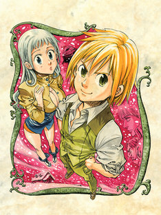 2011年11月に発表された読み切り版「七つの大罪」のカット。連載版ではキャラクターデザインが変更されるため、新デザインを楽しみに待とう。