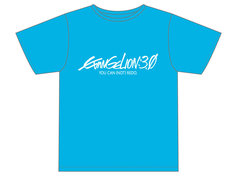 アニメイト・EVA-STORE限定の前売り券に付いてくる「青いTシャツ」フロント。(C)カラー