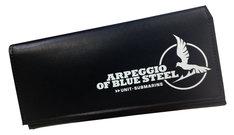 実費頒布にて応募者全員サービスされる特製の「蒼き鋼のアルペジオ」財布。
