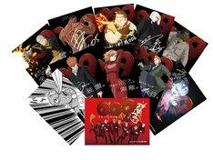 劇場で配布されるトレーディングカードの全種類。(c)2012 「009 RE:CYBORG」製作委員会