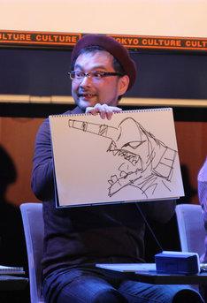 エヴァンゲリオン初号機を描いてみせた大和田秀樹。