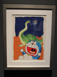 「大長編ドラえもん」シリーズより「のび太の恐竜」のカラー原画。(C)Fujiko-Pro