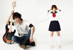 映画「カノジョは嘘を愛しすぎてる」のキャスト写真。左が小笠原秋役を演じる佐藤健、右が小枝理子役を演じる大原櫻子。
