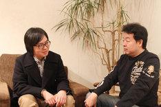 写真左から押見修造、長濱博史。