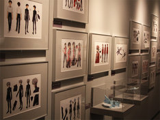 登場人物の色設定画。「エヴァンゲリオン展」松屋銀座(c)カラー