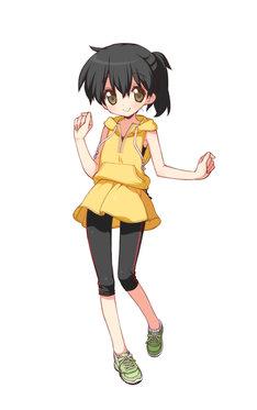 美水かがみが手がけた、川内優輝選手のオリジナル応援キャラクター・武比奈まい。