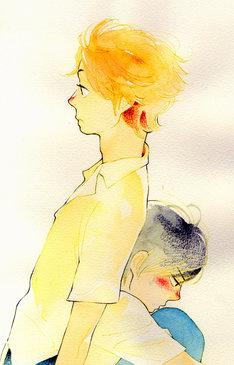 志村貴子による「不憫BL」掲載作品の扉イラスト。