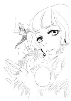 安野モヨコ「鼻下長紳士回顧録」予告カット。