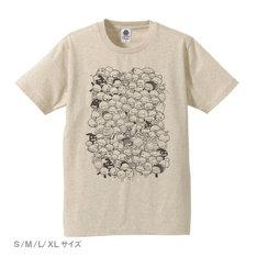 もやしもん 菌Tシャツ(ヘザーベージュ)。価格は3780円。