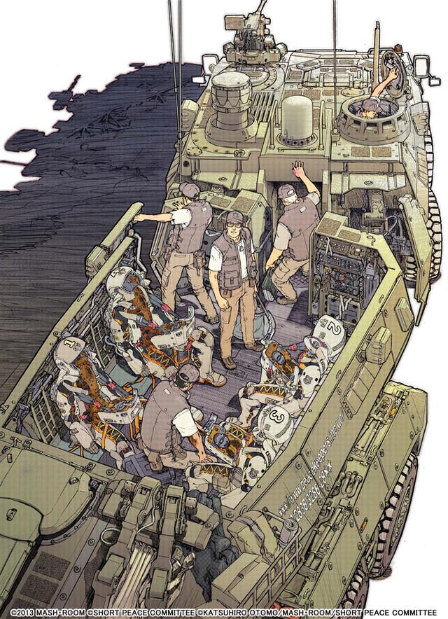 単行本「武器よさらば」のメインビジュアル。(c) 2013 MASH・ROOM (c)SHORT PEACE COMMITTEE (c)KATSUHIRO OTOMO/MASH・ROOM/SHORT PEACE COMMITTEE