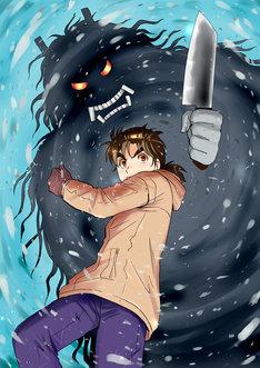 現在、週刊少年マガジンにて連載されている「金田一少年の事件簿R 雪鬼伝説殺人事件」のカット。