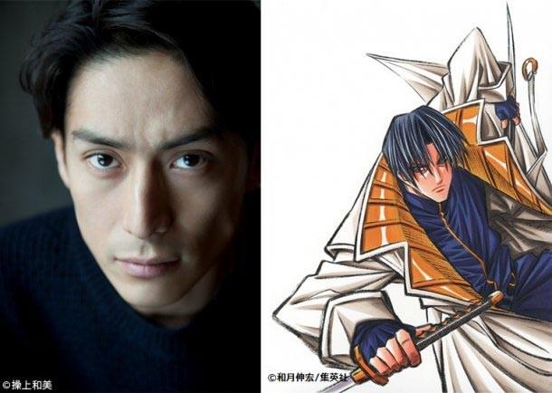 伊勢谷友介(左)と彼が演じる四乃森蒼紫(右)。