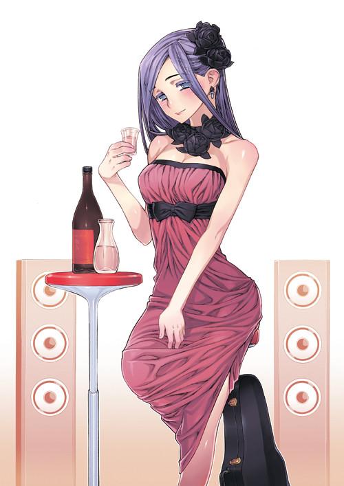 「酩酊女子~日本酒酩酊ガールズ~」より、塩野干支郎次のイラスト。