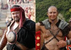写真左から、曙演じるアケボニウス、琴欧洲演じるコトオウシュヌス。(c)2014「テルマエ・ロマエⅡ」製作委員会