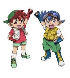 「爆走兄弟レッツ&ゴー!!」のビジュアル。左から星馬烈、星馬豪。 (c)こしたてつひろ/小学館・ShoPro