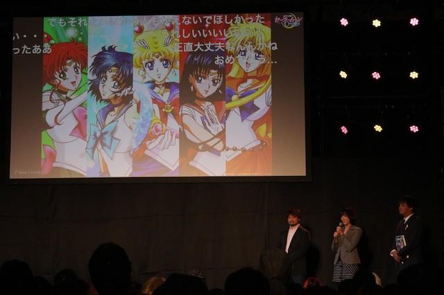 アニメのキャストが発表された瞬間。写真左より監督の境宗久、プロデューサーの神木優、原作担当編集の小佐野文雄。