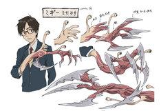 ミギーのキャラクター設定画  (c)岩明均/講談社・VAP・NTV・4cast
