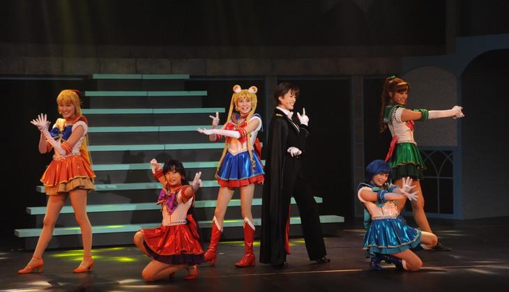 ミュージカル「美少女戦士セーラームーン ~Petite Etrangere~」公開舞台稽古の様子。