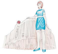 デパガちゃんは伊勢丹新宿店よりも大きい。(c)タナカカツキ
