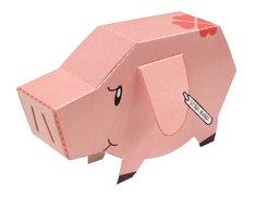 「七つの大罪」店頭装飾コンテストで10店舗に投票するともらえるホークのペーパークラフト。